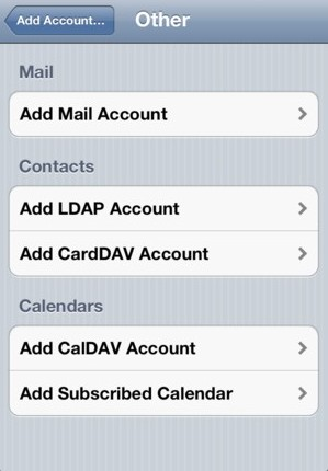 Click add mail account.